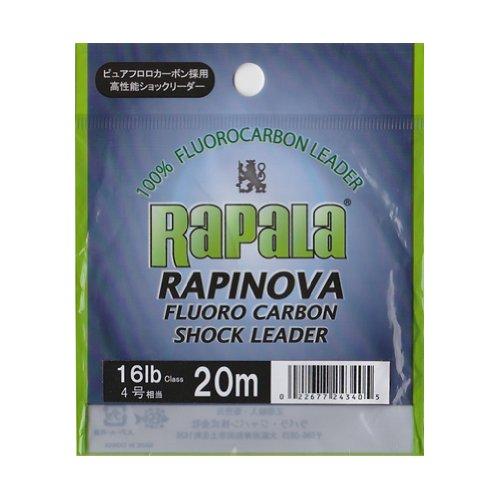 Rapala(ラパラ) ショックリーダー ラピノヴァ フロロカーボン 20m 4.0号 16lb クリア RFL20M16の商品画像