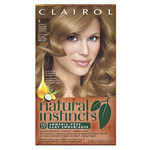 Champagne Ice - Clairol Natural Instincts, 8/5 Champagne on Ice Medium Natural Blonde, Semi-Permanent Hair Color, 1 Kit