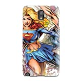 Perfect Fit McTiyCs12307gWcVd Supergirl Case For Galaxy - Note 3 With Free Screen Protector