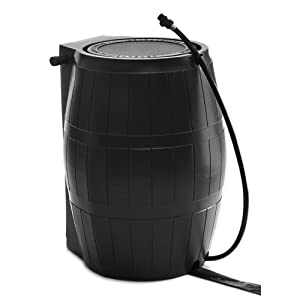 FCMP Outdoor RC4000 Home Rain Water Storage Catcher Barrel
