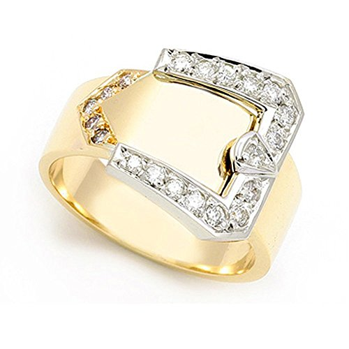 18k Yellow Gold Pave set Diamond Buckle Ring (G-H/SI, 1/3 ct.), 11