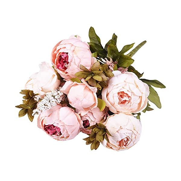 Artificial-Flowers-Fake-Flowers-Silk-Peony-bouquets-Wedding-Home-Decoration-Pack-of-1-Spring-Pure-Pink