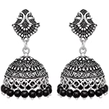 15 Grams Lovely Peacock oxidised Silver Plated Jhumka Jhumka Earring Jewellery For Girls