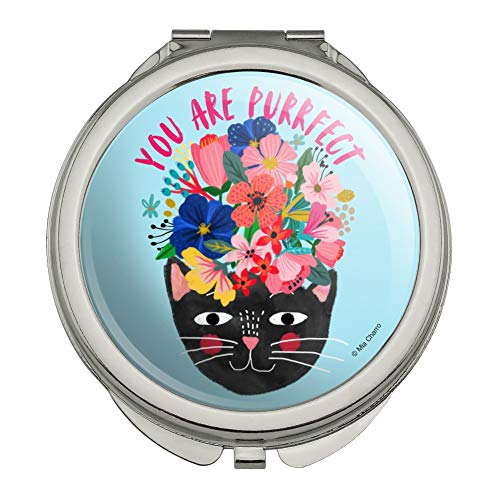 Cat Purrrfect (You are Purrrfect Perfect Cat Compact Travel Purse Handbag Makeup Mirror)