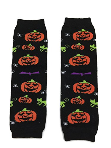 (Rush Dance Halloween Parties/Parades Boys or Girls Baby/Toddler Leg Warmers (One Size, Black)