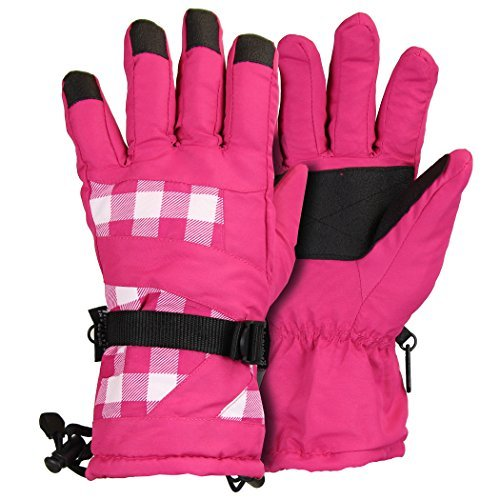 Ladies Taslon Plaid Snowboard Glove