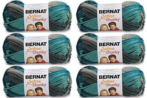 - Bulk Buy: Bernat Softee Chunky Ombre Yarn (6-Pack) Deep Waters 161129-29632