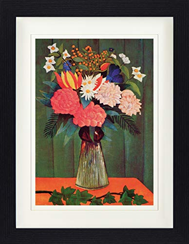 Henri Rousseau Framed Collector Poster - Bouquet of Flowers with an Ivy Branch, 1909 (16 x 12 inches)