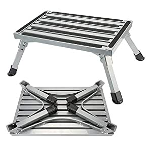 Folding Rv Step Platform Aluminum Alloy Trailer Step Stool