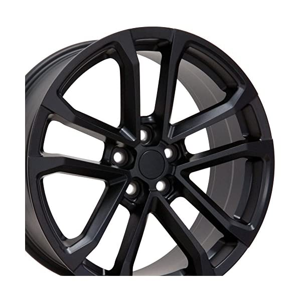 OE-Wheels-20-Inch-Fits-Chevy-Camaro-10-2018-ZL1-Style-CV19-20x9520x85-Rims-Satin-Black-SET