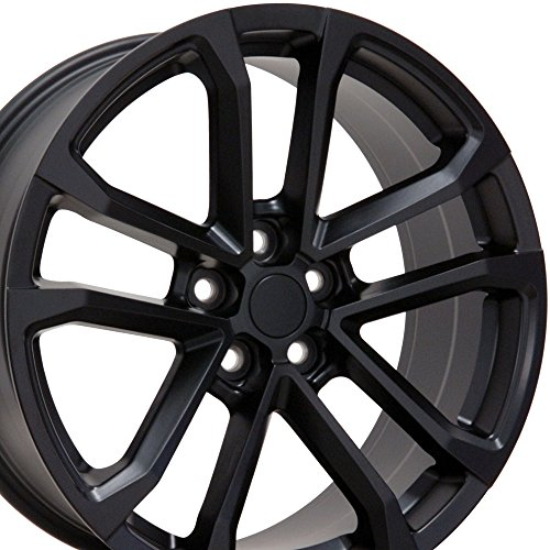20×9.5 Wheel Fits Camaro – ZL1 Style Satin Black Rim, Hollander 5547 – REAR ONLY