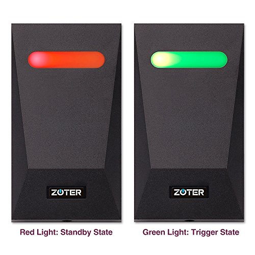 ZOTER Waterproof IP65 Access Control Wiegand 26 ABS Plastic Home Office Door RFID 125Khz ID Card Reader With LED Light (Black)