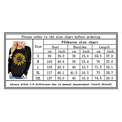 Pfvkeree Crewneck Long Sleeve Sunflower Tee Shirt Cute Funny Graphic Tshirts Cotton Top for Women at  Women's Clothing store