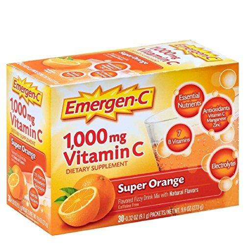 Emergen-C Super Orange, 30-count, 1000MG (2 Pack)