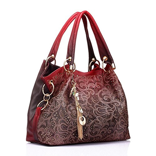 Tangbasi pour Tangbasi Red rouge 123 Red à femme main Sac avvT6