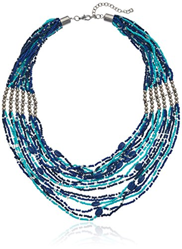 Multi Row Turquoise Statement Necklace extender