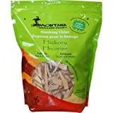 Montana Grilling Gear Smoking and Cooking Wood Chips – 100% Organic and Pesticide Free - Safe for Grills and Smokers - 220 Cubic Inch Bag - Hickory - SC220-DEH