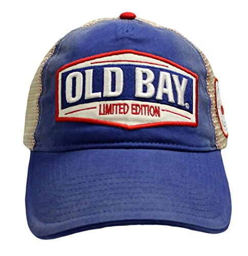 Old Bay Limited Edition Men's Baseball Cap Hat (one Size, Adjustable) Blue