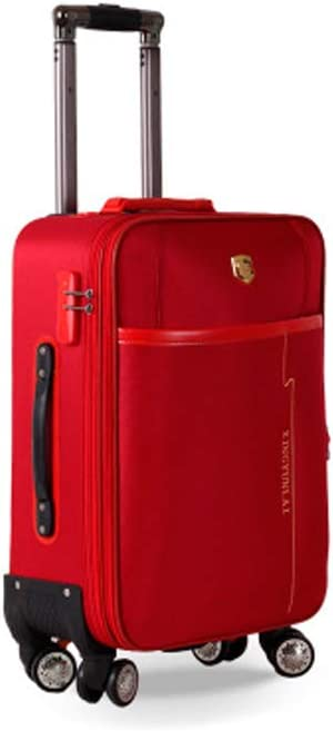 HUIJUNWENTI Carry Suitcase 20 Inches Black The Latest Style Color : Red, Size : 22 Rotating Suitcase Soft Case Simple and Simple