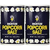 1Lb 10oz Morton Popcorn Salt For Green Salad, Corn on the Cob, French Fries, Nuts, Pack of 2