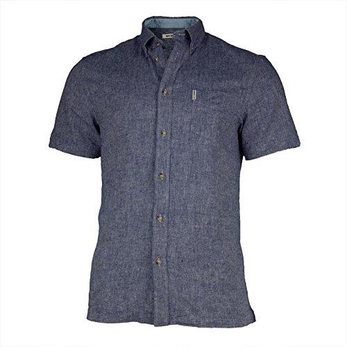 Ben-Sherman-Mens-Short-Sleeve-Linen-Button-Down-Shirt