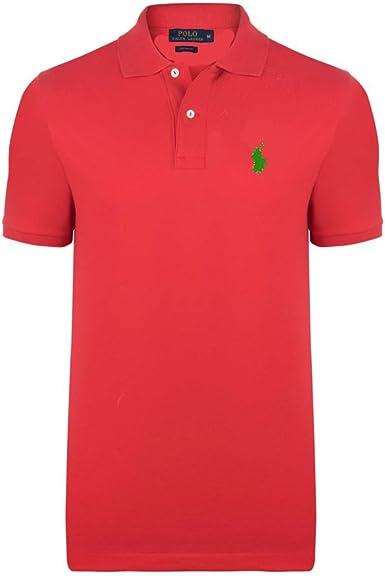 Ralph Lauren - Polo - para Hombre Rojo Fuego XXX-Large: Amazon.es: Ropa y accesorios