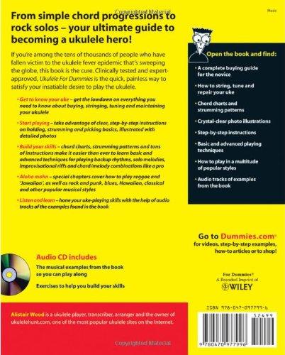 Amazon Ukulele For Dummies 8601404204845 Alistair Wood Books
