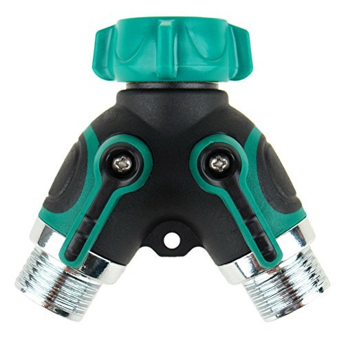 The Seventh 2 Way Garden Water Hose Splitter Y Ball Valve Hose Connector Fits Ourdoor Faucet
