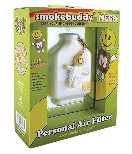 smoke-buddy-mega-personal-air-purifier-cleaner-filter-removes-odor-white