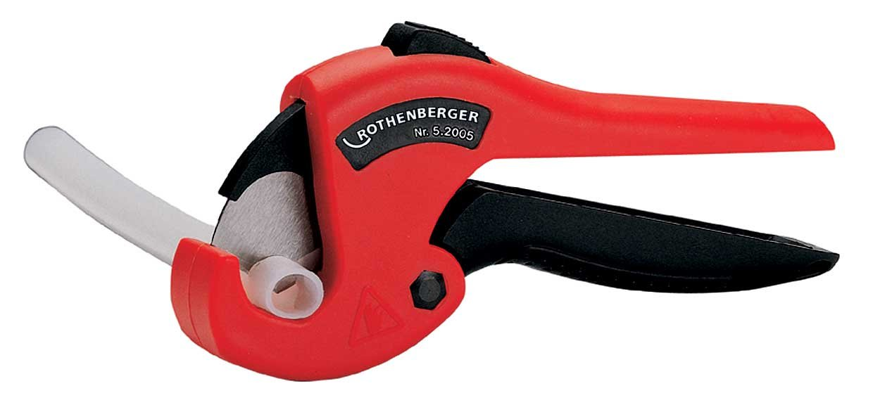 Rothenberger 52005'ROCUT 26 0-26' Plastic Pipe Shears - Black/Silver/Red