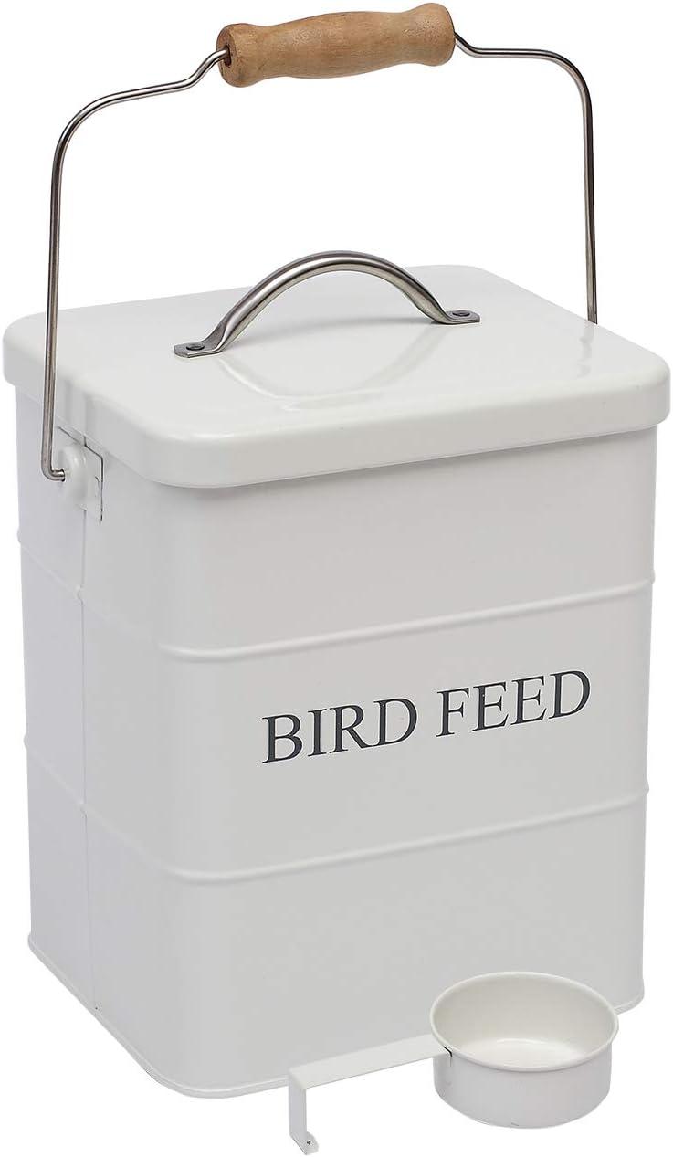 Geyecete Bird Feeder,Bird Food Jar Pet Food Storage Airtight Food Storage Container
