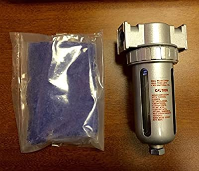 """3/8"""" Compressed Air In Line Filter Desiccant Dryer Moisture Water Separator New"""