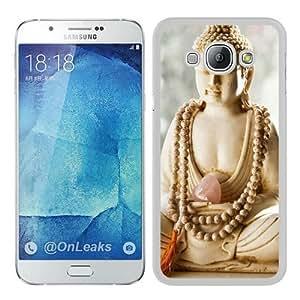 Samsung Galaxy A8 Case,Buddha Beads Holy Teaching White Samsung Galaxy A8 Phone Case