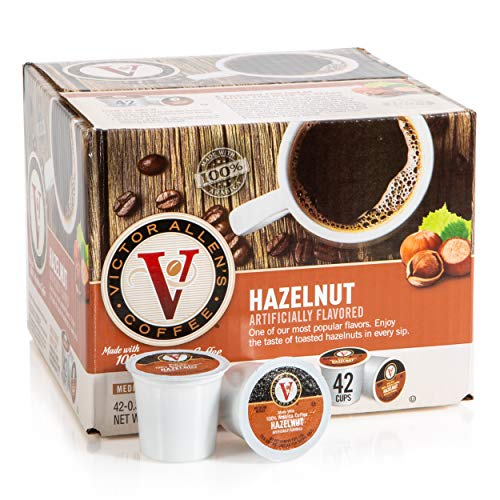 Amazon.com : Victor Allens Coffee K Cups, Hazelnut Single Serve Medium Roast Coffee, 42 Count, Keurig 2.0 Brewer Compatible : Grocery & Gourmet Food