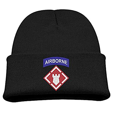 Babala 20th Engineer Brigade SSI Boys And Girls Knitted Beanie Cap Hat Winter Hats Solid Color Beanie Black