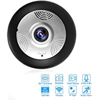 OTTFF WIFI IP Camera Real-Time Talkback Smart Phone Remote Monitor HD Surveillance Cameras With Video / IMotion Detection IR Night / Snapshot for Family Safety - 360 deg Home Panoramic Live Viewing