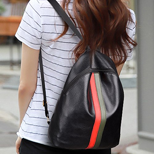 Nuevo bolso rojo y verde bolso mochila impermeable coreano
