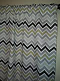 Cheap Multi color grey, gold, brown ivory Chevron curtains, window treatment Dorm, red curtain – 2 panels/Tiers – Window, Laundry, basement, office kids daycare schools, Kitchen cafe curtains 35″ L