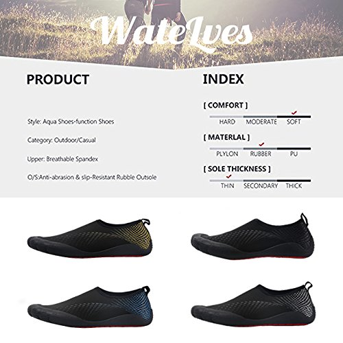 Water Shoes Mens Womens Beach Swim Shoes Shoes Quick-Dry Aqua Socks Pool Shoes Shoes for Surf Yoga Water Aerobics B0796T4S53 11 D(M) US|Fivefingers-black Star 58d392