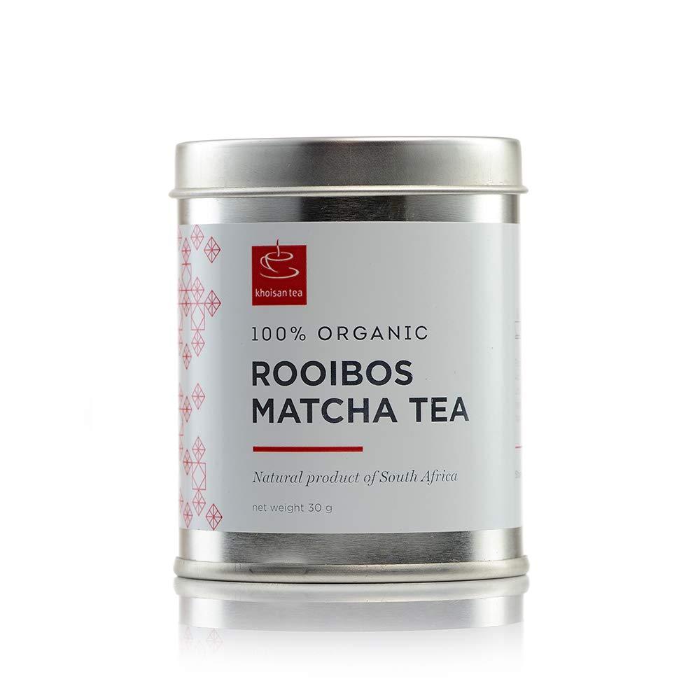 Khoisan Tea 100% Organic Rooibos Matcha/Micro powder, 30g Tin