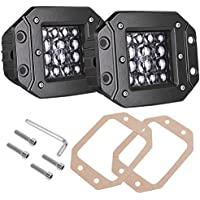 Quad Row LED Pods, AKD Part 2pcs 84W LED Flush Mount 5...