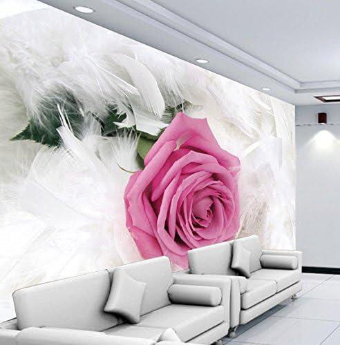 AQSGH Moda simple flor rosa rosa salón TV sofá fondo de pantalla fondo de pantalla cálido gran mural, perla de alta calidad (tamaño completo): Amazon.es: Bricolaje y herramientas