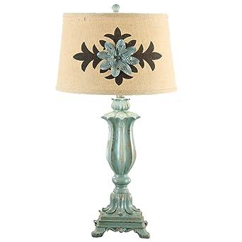 Lámpara de escritorio estilo europeo lámpara de mesa de jardín ...