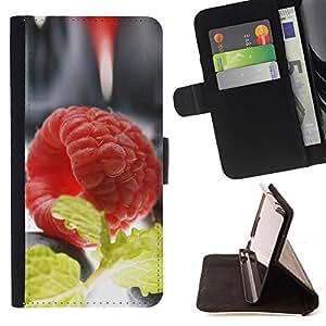 BullDog Case - FOR/Samsung ALPHA G850 / - / Plant Nature Forrest Flower 60 /- Monedero de cuero de la PU Llevar cubierta de la caja con el ID Credit Card Slots Flip funda de cuer