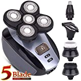Men's 5-in-1 Electric Shaver & Grooming Kit: Five-Headed Beard, Hair Razor for a Perfect Bald Look,...