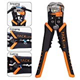 TACKLIFE MWS02 Wire Stripper, Tacklife Self-Adjusting 8.4 Inch Cable Cutter Crimper , 3 in 1 Multi Pliers for Wire Stripping, Cutting, Crimping