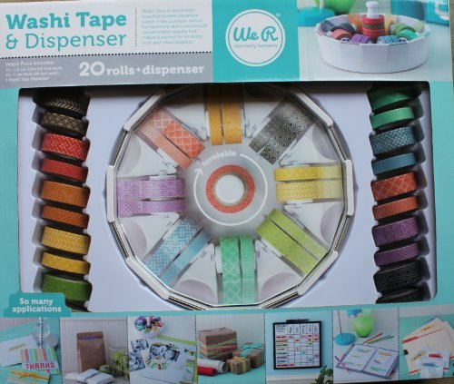 Washi Tape & Dispenser Memory Keepers 25' X 500' Roll