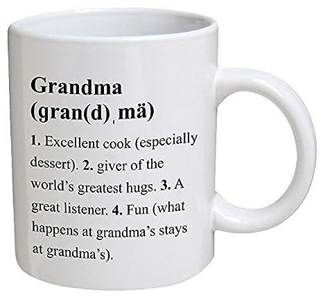 Taza divertida - Grandma, definición de abuela - 11 OZZtazas de café - divertido inspirador y sarcasm - por una taza para mantener TM: Amazon.es: Hogar