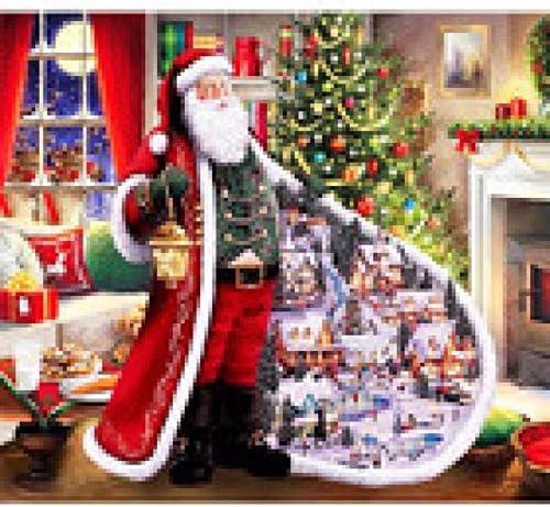 BUFULAIZHAN Verf op Nummers Voor Beginner Level Kerstman Schilderen Op Numbers Set Met 3 Borstels Verven En Acryl Pigment Canvas Home Decor 40 50Cm Frameless