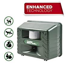 Yard Sentinel - Electronic Ultrasonic Pest Repeller Animal Control, Pest Control, Cat Repellent, Dog Repellent, Deer Repellent, Mice Repellent, Bird Repellent with Motion Sensor - Pest Control against all Animals: Racoons, Skunk, Deer, Rabit, Rats, Mouse, Cockroaches, Rodents, Flies, Ants, Fleas, Mice, etc - Green Color